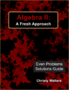 Algebra II Even Problems Solutions Manual